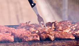 Juicy steaks grill barbecue Royalty Free Stock Photos