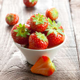 Juicy strawberries Stock Photos