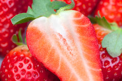 Juicy strawberries Royalty Free Stock Photo
