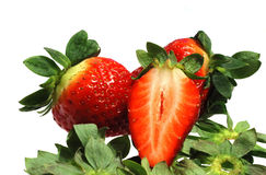 Juicy strawberries Stock Photo