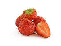 Juicy strawberries fruit Royalty Free Stock Photo