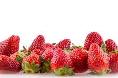 Juicy strawberries. Pile of juicy strawberries - background Stock Photos
