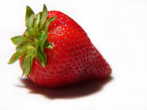 Juicy strawberry. Juicy red strawberry isolated on white Royalty Free Stock Image