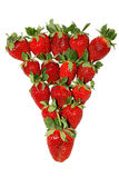 Juicy strawberry. Juicy red berry, vitamins and fresh fruit to a table royalty free stock images