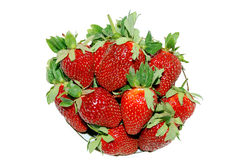 Juicy strawberry. Juicy red berry, vitamins and fresh fruit to a table stock photos