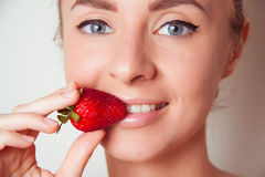 Juicy strawberry Stock Images