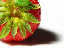 Juicy strawberry macro Royalty Free Stock Photo