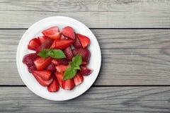 Juicy strawberry Stock Photography
