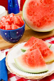 Juicy Summer Watermelon Stock Photography