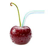 Juicy sweet cherry cocktail Royalty Free Stock Images