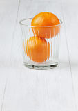 Juicy tangerines Stock Photography