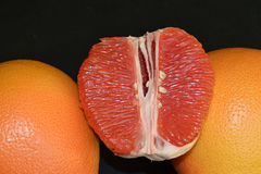 Juicy and tasty grapefruits. royalty free stock photo