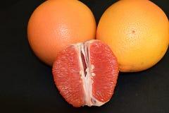Juicy and tasty grapefruits. stock photos