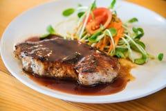 Juicy and tasty grilled pork steak Stock Photos