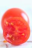 Juicy Tomato. A macro Portait framing of a Cherry tomato Stock Photos