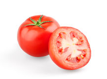 Juicy tomato and half Stock Image