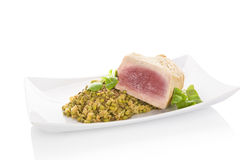 Juicy tuna steak. Stock Photos