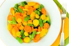 Juicy Vegetable Stew. Paprika, Peas, Carrots. Diet Royalty Free Stock Photos