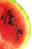 Juicy water-melon. Slice of red, ripe, juicy water-melon on  white background Royalty Free Stock Photos
