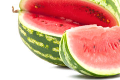 Juicy watermelon. Juicy sliced ​​watermelon close up Royalty Free Stock Images