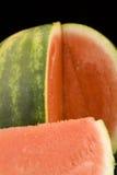 Juicy Watermelon. Isolated on black Stock Photo