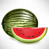 Juicy watermelon with slice Royalty Free Stock Image