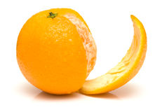 Juicy whole orange Royalty Free Stock Photos