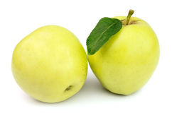 Juicy yellow apples Royalty Free Stock Image