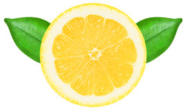 Juicy yellow lemon on a white background isolated Royalty Free Stock Image