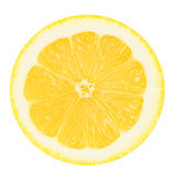 Juicy yellow lemon on a white background isolated Royalty Free Stock Images