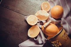 Juicy yellow lemons Stock Photos