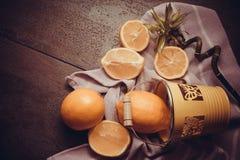 Juicy yellow lemons Stock Images