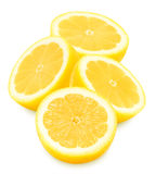 Juicy yellow lemons on a white background isolated Royalty Free Stock Photo