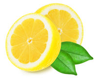 Juicy yellow lemons on a white background isolated Stock Photos