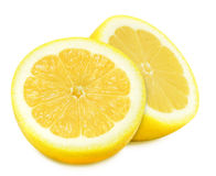 Juicy yellow lemons on a white background isolated Royalty Free Stock Photo