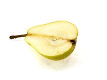Juicy yellow pear with a tail Royalty Free Stock Image