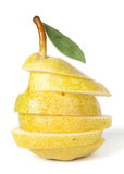 Juicy yellow pear on white Royalty Free Stock Photos