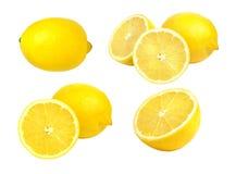 Juicy yellow slice of lemon Royalty Free Stock Image