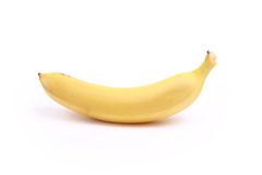 Juicy yummy banana. On white background stock photography