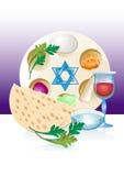 Juif célébrez la pâque de pesach avec des oeufs illustration stock