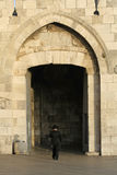 Juif orthodoxe à la porte de jaffa Image libre de droits