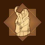 Juif soufflant le klaxon de moutons de shofar illustration stock