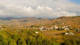 Juilienas by på nedgången Royaltyfri Fotografi