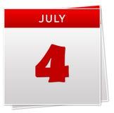 4 juillet Image stock