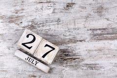 27 juillet Photos stock