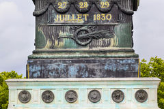 Juillet basent des Frances de Bastile Square Place de la Bastille Paris Image libre de droits