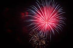 4 juillet célébration de feux d'artifice en Caroline du Nord Image libre de droits