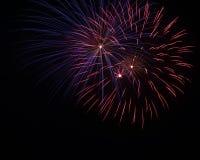 4 juillet célébration de feux d'artifice en Caroline du Nord Image stock