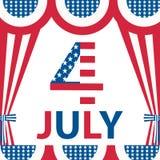 4 juillet carte Image stock