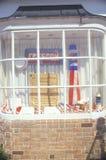 4 juillet décorations dans la fenêtre, Washington, D C Photo libre de droits